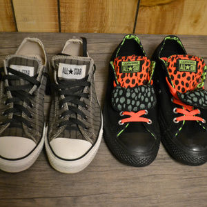 2 Pairs Converse All Star Chuck Taylor Low Shoes